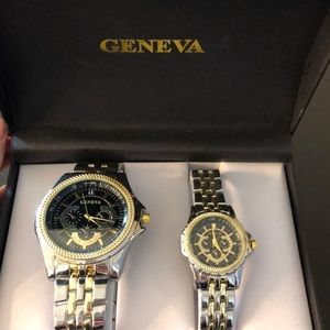 Brand new His and her Geneva watches